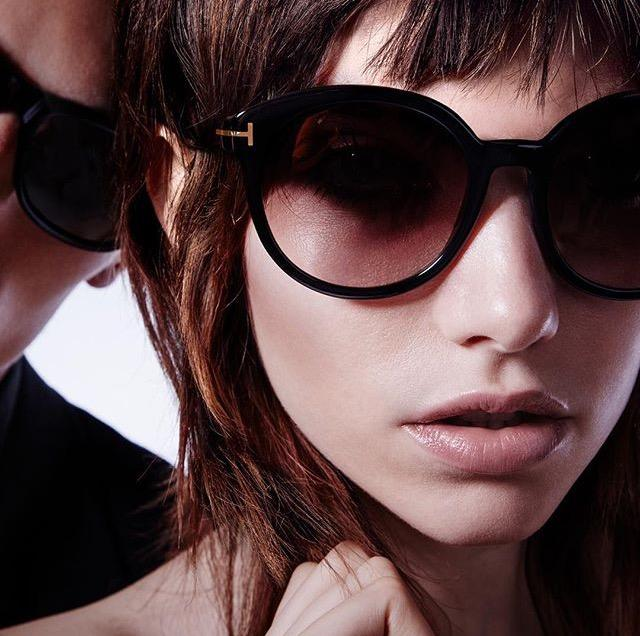 955f4190c05 SS17 Round Eye Collection – Monika FT0429 sunglasses are unique to the Tom  Ford collection. Subtle gold details become pronounced when placed upon  black and ...