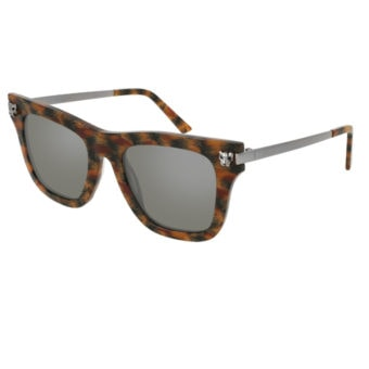 DARK TORTOISE SHELL with Silver Mirror