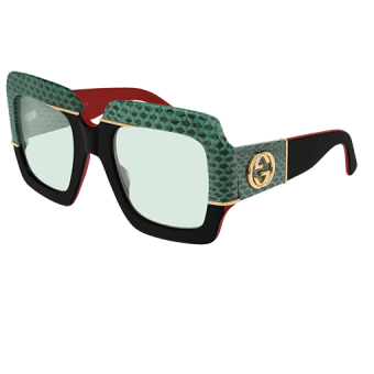 BLACK & SNAKESKIN with Green