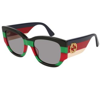BLACK & GUCCI GREEN RED Grey