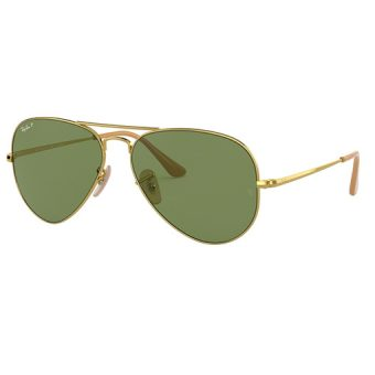 GOLD with Crystal Green-AR Blue Polarised