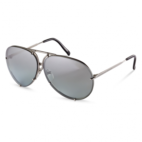 PORSCHE DESIGN P8478 TITANIUM with Silver Mirror & Grey Green Replacement